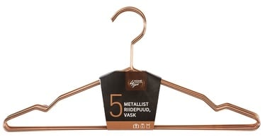 Home4you Metal Cloth Hangers 5pcs Copper
