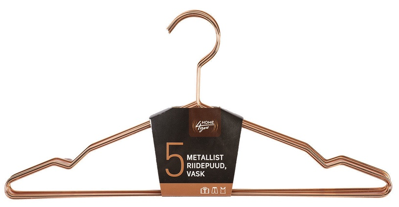 Home4you Metal Cloth Hangers 5pcs Copper