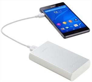 Uzlādēšanas ierīce – akumulators Sony CP-S15S, 15000 mAh, balta