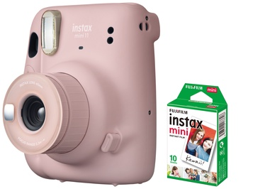 Моментальный фотоаппарат Fujifilm INSTAX MINI 11 BLUSH PINK + 10 PL
