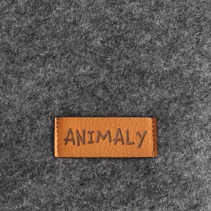 Кровать для животных Myanimaly Tipi M, черный/серый, 800x800 мм