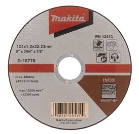 Pjovimo diskas Makita D-18770, 125 x 1.2 x 22.23 mm