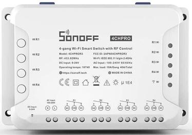 Išmanusis jungiklis Sonoff 4CHPROR3, 4 kanalų (pultelis į komplektaciją neįeina)