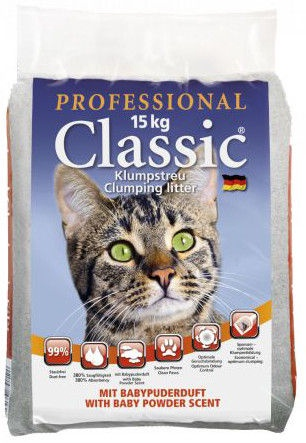 Professional Classic Cat Litter With Silica & Children Powder 15kg