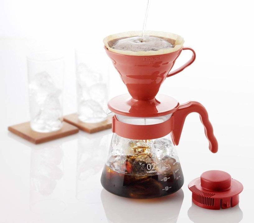 Hario Plastic Coffee Sever Set Red