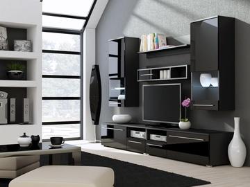 Секция Cama Meble Luna, черный, 260x44x190 см