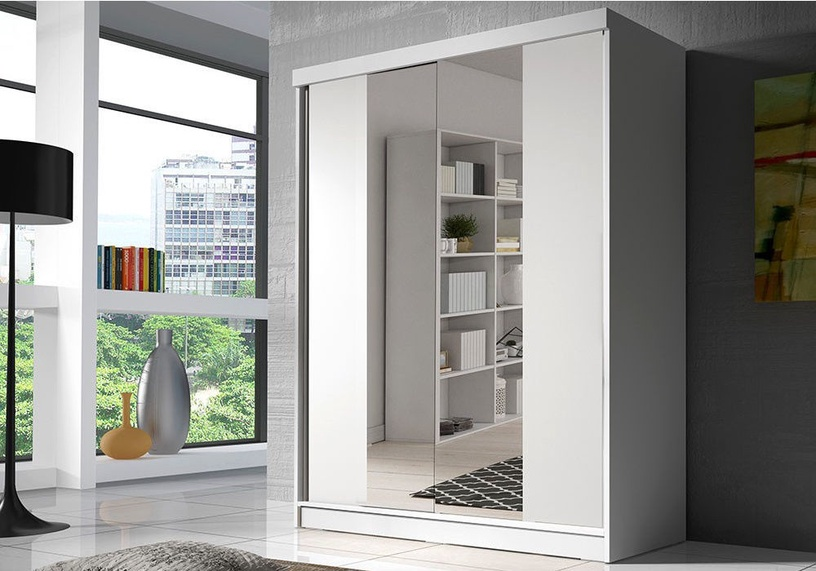 Idzczak Meble Bono BIS 02 Wardrobe w/ Mirror White