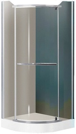 Roltechnik Denver Matte Silver Painted Brown Glass Shower