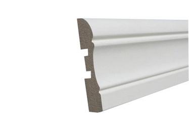 Uksepiirdeliist MDF 12x70mm 2,2m Prof1 Valge
