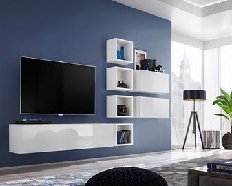 ASM Blox VII Living Room Wall Unit Set White