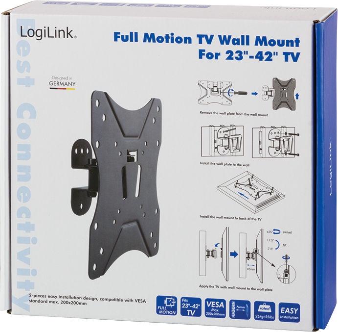 "LogiLink BP0006 TV Wall Mount 23–42"""