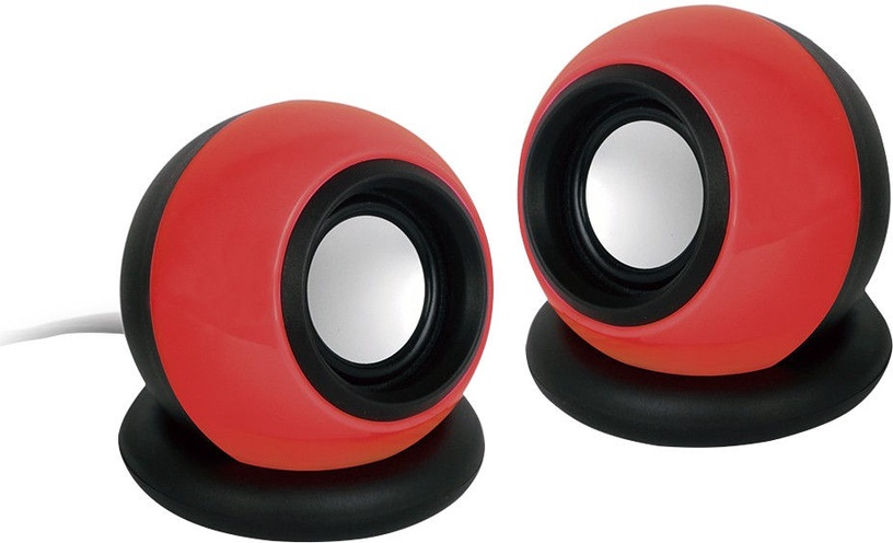 Gembird Stereo Speakers 2.0 Black/Red
