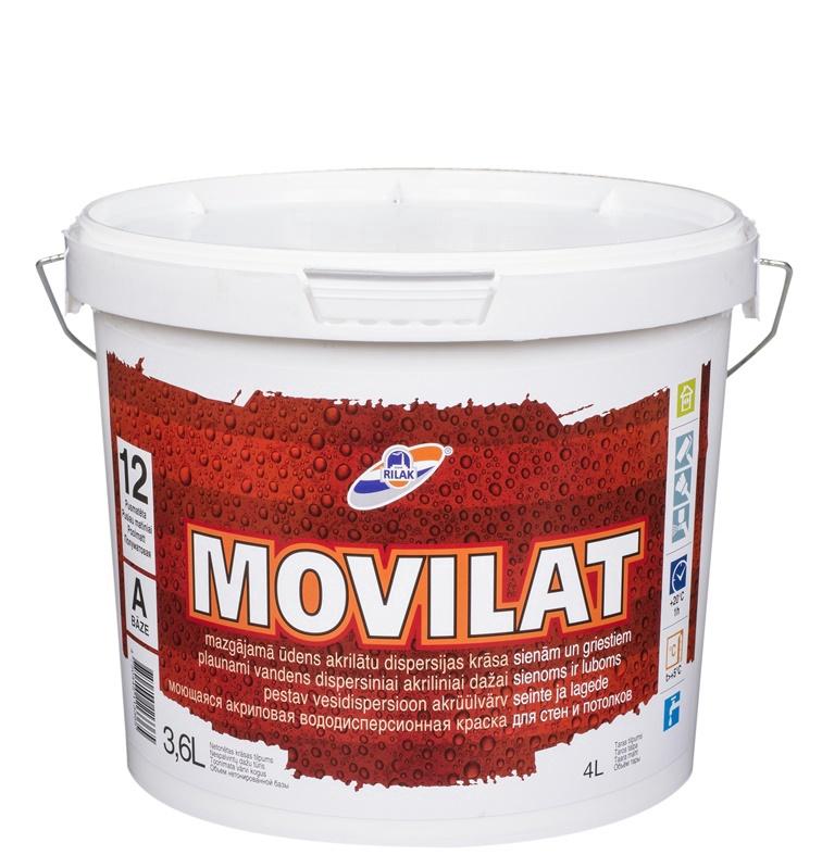 Dispersijas krāsa RILAK Movilat 12, 3