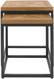 Kafijas galdiņš Home4you Indus, ozola, 450x450x500 mm