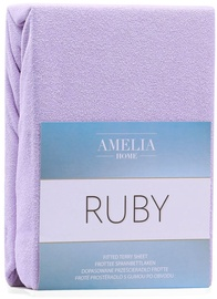 AmeliaHome Ruby Frote Bedsheet 100-120x200 Lilac 36