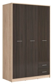 Black Red White Nepo Large Wardrobe Sonoma Oak&Wenge
