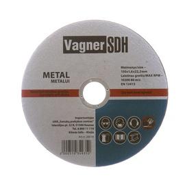 Lõikeketas Vagner 150x1.6x22.23mm, metallidele
