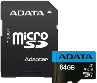 A-Data Premium microSDXC 64GB UHS-I V10 Class 1 + Adapter