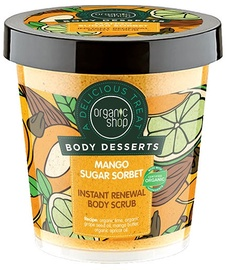 Organic Shop Instant Renewal Body Scrub Mango Sugar Sorbet 450ml