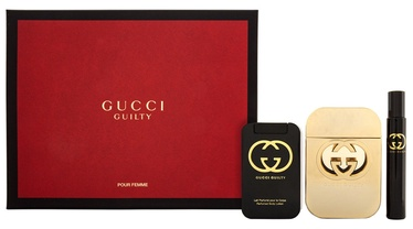 Gucci Guilty 75ml EDT + 100ml Body Lotion + 7.4ml EDT Rollerball