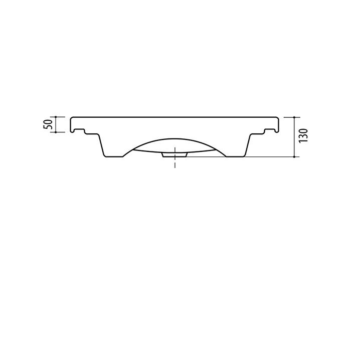 Раковина Riva RIVA 63, керамика, 370 мм x 640 мм x 130 мм