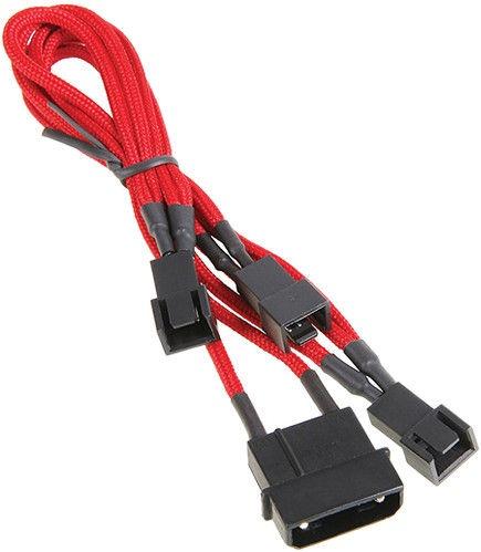 BitFenix 4-Pin to 3 x 3-Pin Cable Red BFA-MSC-M33F7VRK-RP