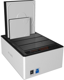 RaidSonic Icy Box Docking And Clone Station For 4x 2.5'' And 3.5'' HDD SATA JBOD USB 3.0