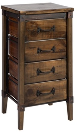 Home4you Chest Of Drawers OPUS 42x33x77cm Brown/Black