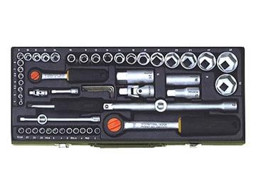 """Sukimo įrankių rinkinys Proxxon 23040, 4-32 mm, 1/4"""" + 1/2"""", 26 vnt."""