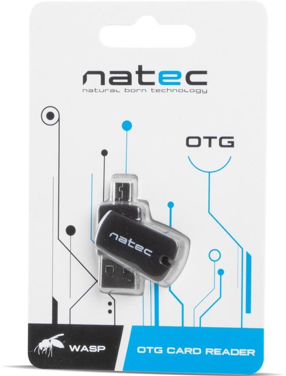 Natec WASP OTG Card Reader 2in1 USB 2.0 Black