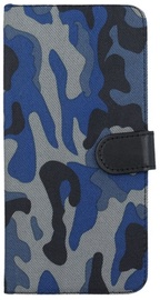 Forever Army Book Case For Huawei P8 Lite Dark Blue