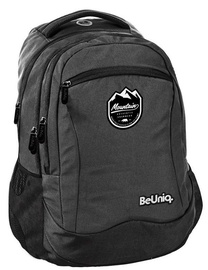 Paso BeUniq Mountains School Backpack w/ Pencil Case Dark Grey