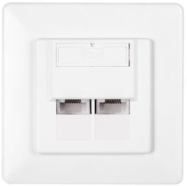 Netrack Complete Wall Outlet 2x RJ45 8p8c UTP Cat6
