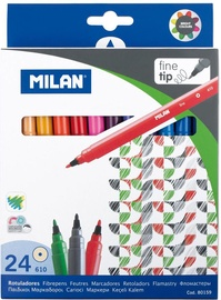 Milan Water-Based Fine Tipped Fibrepens 24pcs 80159