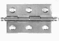 Uksehing J4 KZ40 8241 UR, 40x30 mm, messing