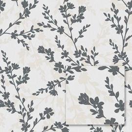 Tapetas flizelino pagrindu, Sintra, 357057, Milana, baltas juodos šakos