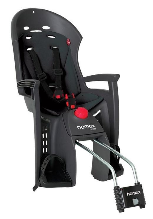 Детское кресло для велосипеда Hamax Siesta F222170, черный/серый, задняя