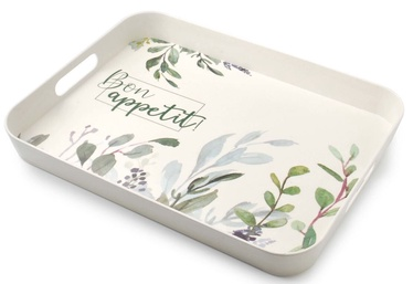 Mondex Bon Apetit Decorative Tray White