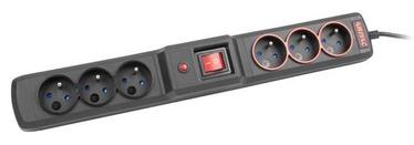 ARMAC Surge Protector 6 Outlet Black 4.5m
