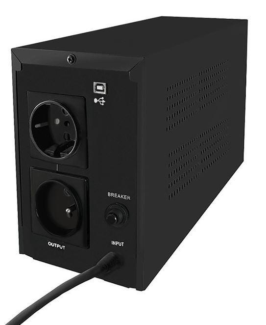 Qoltec UPS Monolith / 800VA / 480W / LCD