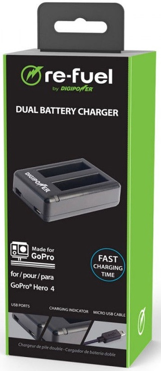 Digipower Dual Port Battery Charger for GoPro Hero4