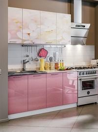 Virtuvės baldų komplektas MN Cherry Blossom Pink, 1.6 m