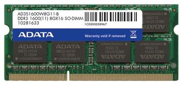 ADATA Premier 8GB 1600MHz DDR3 SO-DIMM AD3S1600W8G11-R