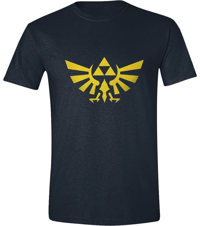 Licenced Zelda Hyrule Logo T-Shirt Navy XL