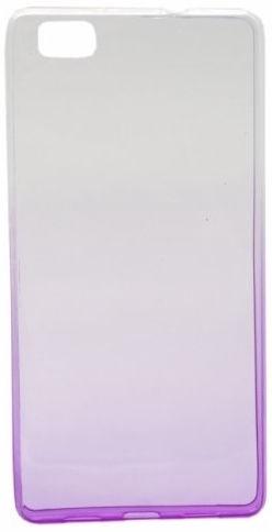 Mocco Gradient Color Back Case For Huawei P8 Lite Transparent/Purple