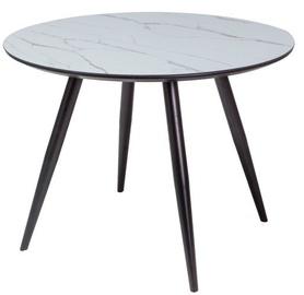 Обеденный стол Signal Meble Modern Ideal, черный/серый, 1000x1000x750мм