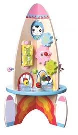 4IQ Rocket Wooden Toy