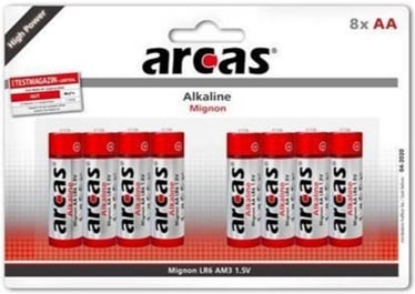 Arcas Alkaline Battery 8 x AA