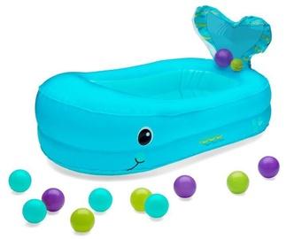 Infantino Whale Bubble Bath Inflatable Bath Tub Blue