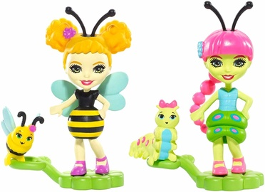 Mattel Enchantimals Cay Caterpillar & Beetrice Bee Micro Dolls FXM88